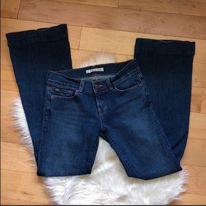 J Brand love story medium wash flare jeans